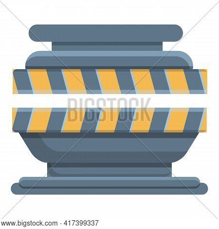 Manufacturing Press Form Machine Icon. Cartoon Of Manufacturing Press Form Machine Vector Icon For W