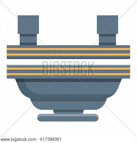 Action Press Form Machine Icon. Cartoon Of Action Press Form Machine Vector Icon For Web Design Isol