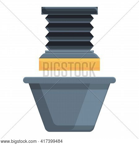 Factory Press Form Machine Icon. Cartoon Of Factory Press Form Machine Vector Icon For Web Design Is