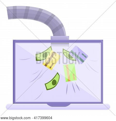 Money Risk Malware Icon. Cartoon Of Money Risk Malware Vector Icon For Web Design Isolated On White