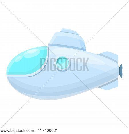 Deep Submarine Icon. Cartoon Of Deep Submarine Vector Icon For Web Design Isolated On White Backgrou