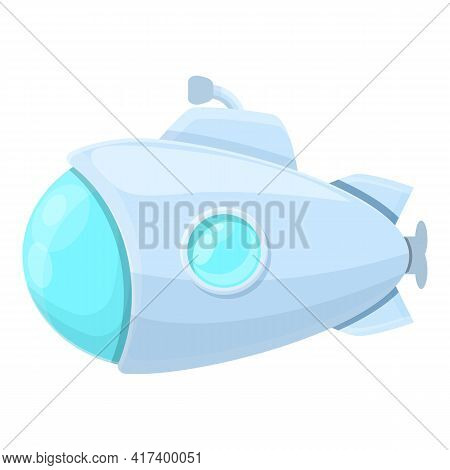 Dive Submarine Icon. Cartoon Of Dive Submarine Vector Icon For Web Design Isolated On White Backgrou