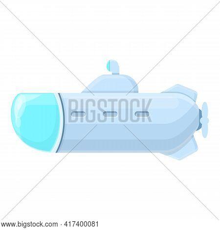 Marine Submarine Icon. Cartoon Of Marine Submarine Vector Icon For Web Design Isolated On White Back