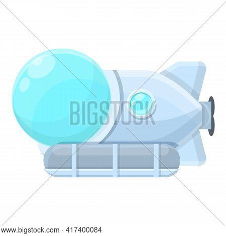 Nautical Submarine Icon. Cartoon Of Nautical Submarine Vector Icon For Web Design Isolated On White