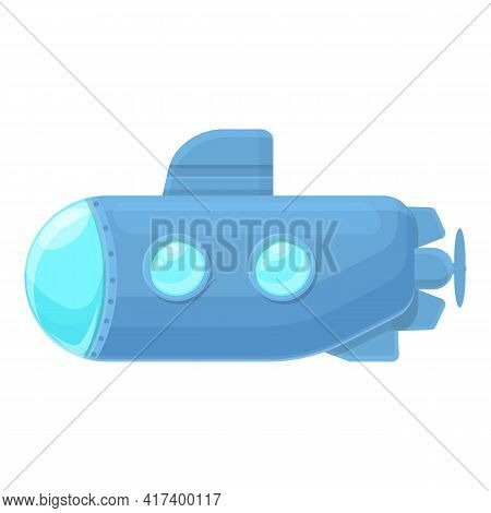 Transport Submarine Icon. Cartoon Of Transport Submarine Vector Icon For Web Design Isolated On Whit