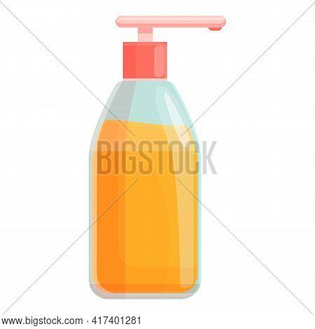 Solarium Sunscreen Bottle Icon. Cartoon Of Solarium Sunscreen Bottle Vector Icon For Web Design Isol