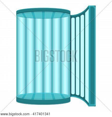 Solarium Glass Icon. Cartoon Of Solarium Glass Vector Icon For Web Design Isolated On White Backgrou
