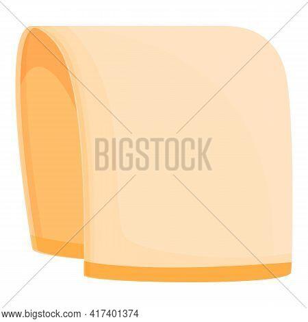 Solarium Towel Icon. Cartoon Of Solarium Towel Vector Icon For Web Design Isolated On White Backgrou