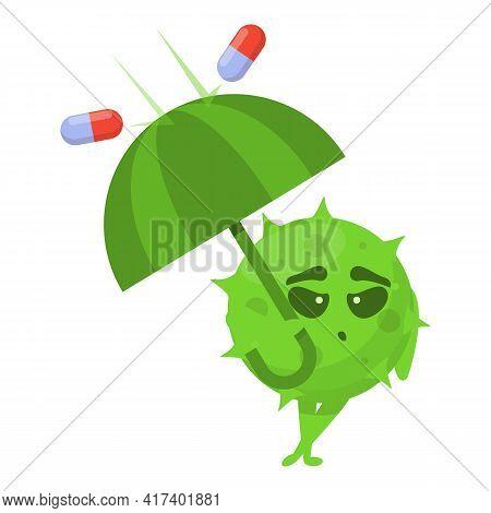 Umbrella Antibiotic Resistance Icon. Cartoon Of Umbrella Antibiotic Resistance Vector Icon For Web D