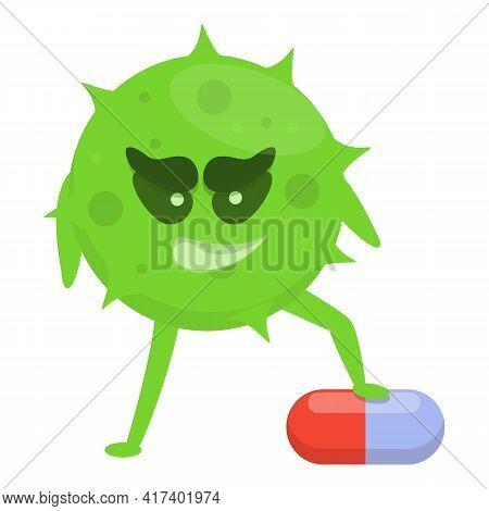 Pharmacy Antibiotic Resistance Icon. Cartoon Of Pharmacy Antibiotic Resistance Vector Icon For Web D