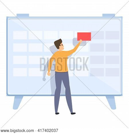 Daily Task Schedule Icon. Cartoon Of Daily Task Schedule Vector Icon For Web Design Isolated On Whit