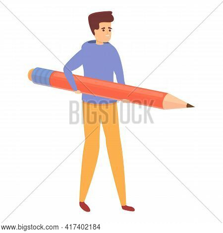 Pencil Task Schedule Icon. Cartoon Of Pencil Task Schedule Vector Icon For Web Design Isolated On Wh