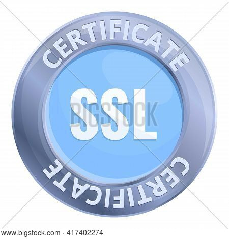 Connection Ssl Certificate Icon. Cartoon Of Connection Ssl Certificate Vector Icon For Web Design Is