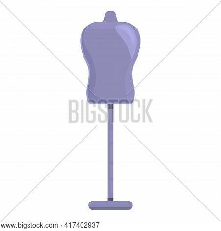 Atelier Mannequin Icon. Cartoon Of Atelier Mannequin Vector Icon For Web Design Isolated On White Ba