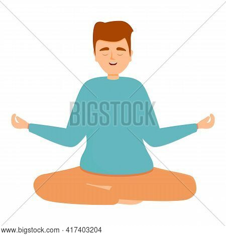 Concentrated Meditation Icon. Cartoon Of Concentrated Meditation Vector Icon For Web Design Isolated