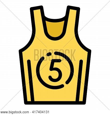 Basketball Vest Icon. Outline Basketball Vest Vector Icon For Web Design Isolated On White Backgroun
