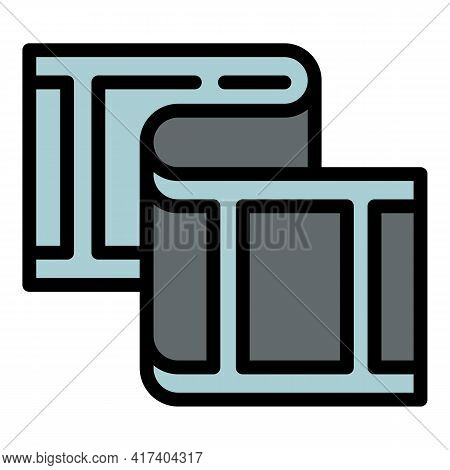 Media Reel Icon. Outline Media Reel Vector Icon For Web Design Isolated On White Background