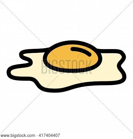 Breakfast Fried Egg Icon. Outline Breakfast Fried Egg Vector Icon For Web Design Isolated On White B