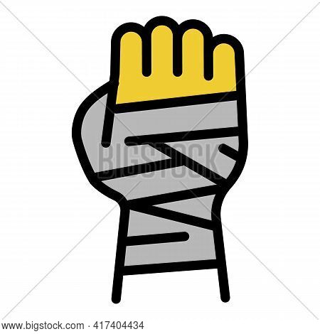 Boxing Hand Icon. Outline Boxing Hand Vector Icon For Web Design Isolated On White Background