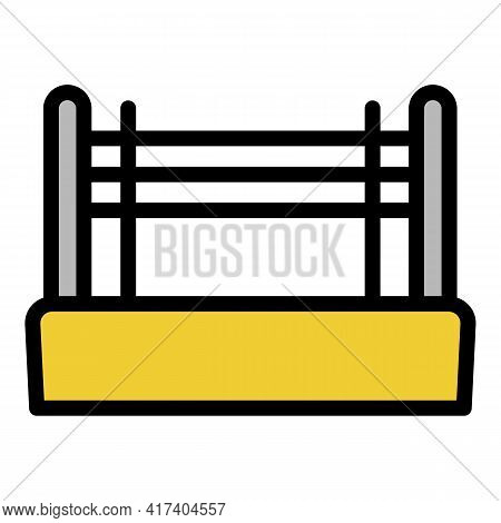 Boxing Ring Icon. Outline Boxing Ring Vector Icon For Web Design Isolated On White Background