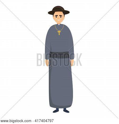 Catholic Pope Icon. Cartoon Of Catholic Pope Vector Icon For Web Design Isolated On White Background