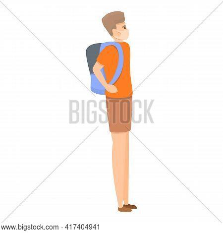 Quarantine School Lesson Icon. Cartoon Of Quarantine School Lesson Vector Icon For Web Design Isolat