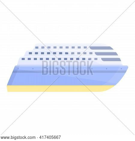 Ferry Icon. Cartoon Of Ferry Vector Icon For Web Design Isolated On White Background