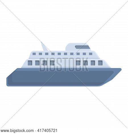 Ferry Carrier Icon. Cartoon Of Ferry Carrier Vector Icon For Web Design Isolated On White Background
