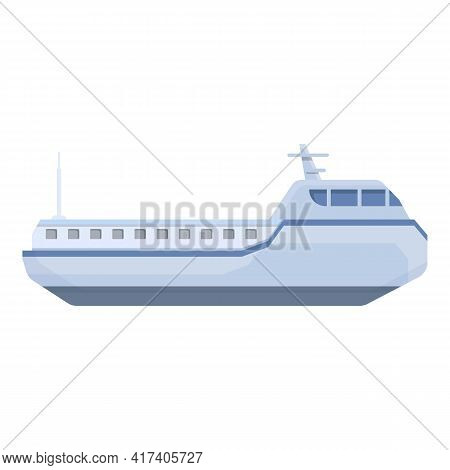 Ferry Cargo Icon. Cartoon Of Ferry Cargo Vector Icon For Web Design Isolated On White Background
