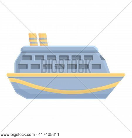 Regular Cruise Liner Icon. Cartoon Of Regular Cruise Liner Vector Icon For Web Design Isolated On Wh
