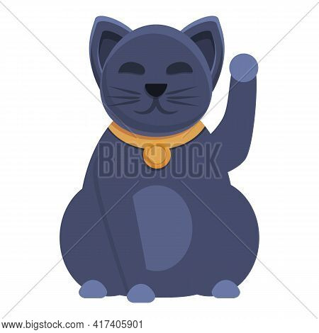 Character Lucky Cat Icon. Cartoon Of Character Lucky Cat Vector Icon For Web Design Isolated On Whit