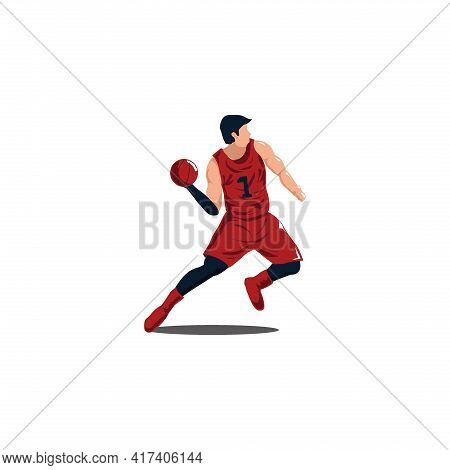 Man Throwing The Ball On Basket Ball Game - Illustrations Of Basket Ball Player Throw The Ball - Bas