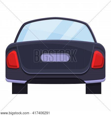 Sedan Trunk Car Icon. Cartoon Of Sedan Trunk Car Vector Icon For Web Design Isolated On White Backgr
