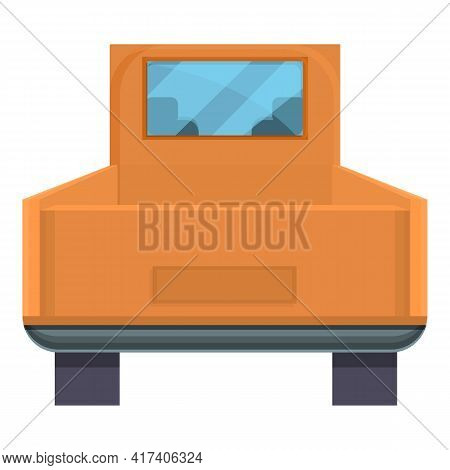Pick Up Trunk Car Icon. Cartoon Of Pick Up Trunk Car Vector Icon For Web Design Isolated On White Ba