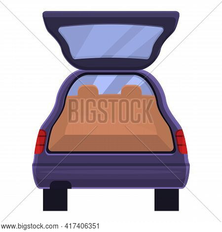 Automatic Trunk Car Icon. Cartoon Of Automatic Trunk Car Vector Icon For Web Design Isolated On Whit