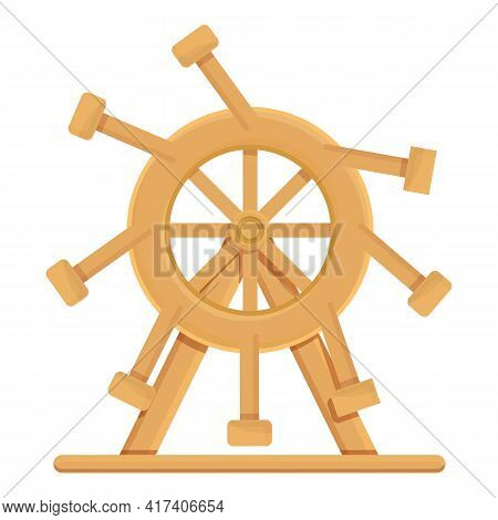 Perpetual Motion Wheel Icon. Cartoon Of Perpetual Motion Wheel Vector Icon For Web Design Isolated O