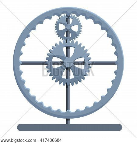 Perpetual Motion Gear Wheel Icon. Cartoon Of Perpetual Motion Gear Wheel Vector Icon For Web Design