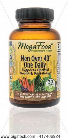 Winneconne, Wi - 18 April 2021:  A Package Of Mega Food Men Over 40 One Daily Multivitamin Supplemen