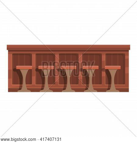 Bar Counter Icon. Cartoon Of Bar Counter Vector Icon For Web Design Isolated On White Background