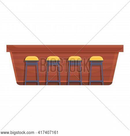 Interior Bar Counter Icon. Cartoon Of Interior Bar Counter Vector Icon For Web Design Isolated On Wh