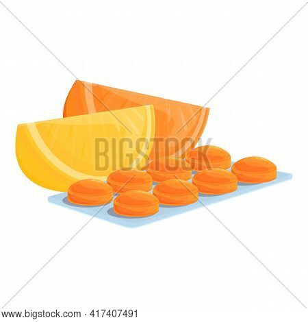 Fruit Mix Cough Drops Icon. Cartoon Of Fruit Mix Cough Drops Vector Icon For Web Design Isolated On