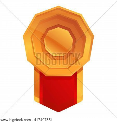 Ranking Badge Icon. Cartoon Of Ranking Badge Vector Icon For Web Design Isolated On White Background
