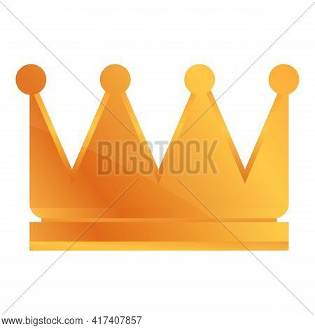 Ranking Crown Icon. Cartoon Of Ranking Crown Vector Icon For Web Design Isolated On White Background