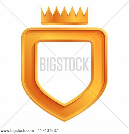 Ranking Crown Shield Icon. Cartoon Of Ranking Crown Shield Vector Icon For Web Design Isolated On Wh