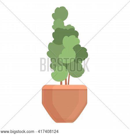 Soil Plant Pot Icon. Cartoon Of Soil Plant Pot Vector Icon For Web Design Isolated On White Backgrou