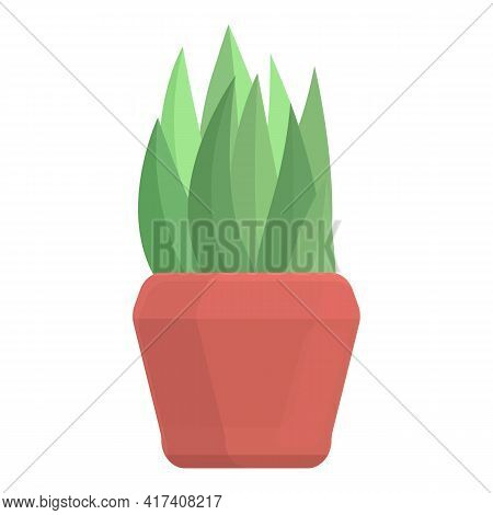 Agriculture Plant Pot Icon. Cartoon Of Agriculture Plant Pot Vector Icon For Web Design Isolated On
