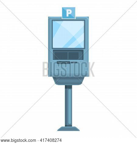 Paid Parking Kiosk Icon. Cartoon Of Paid Parking Kiosk Vector Icon For Web Design Isolated On White