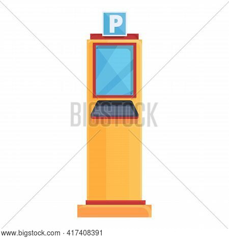 Parking Kiosk Icon. Cartoon Of Parking Kiosk Vector Icon For Web Design Isolated On White Background