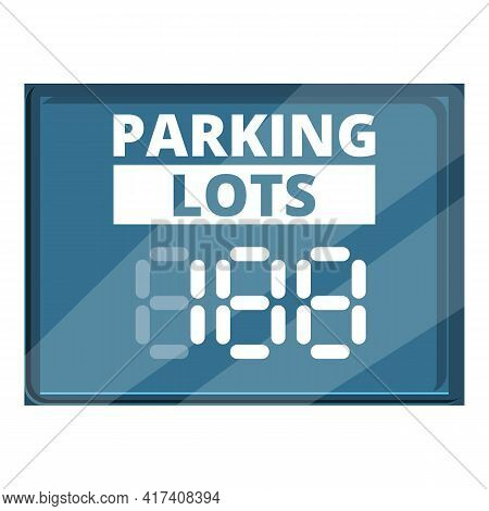 Parking Lots Icon. Cartoon Of Parking Lots Vector Icon For Web Design Isolated On White Background