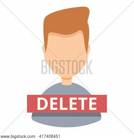 Delete User Avatar Icon. Cartoon Of Delete User Avatar Vector Icon For Web Design Isolated On White